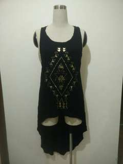 Graffiti sleeveless top