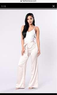 Fashion nova satin pants-Large