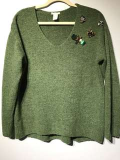 H&M Sweater with brooch appliqués - Small