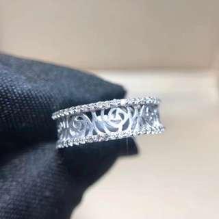 日本工藝設計成品 18k白金戒指(得1件)