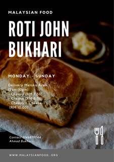 Roti John Bukhari (cheezy+cheese)