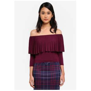 Cotton On Polly Off The Shoulder Long Sleeve Top