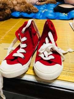 🚚 二手  九成新  紅色  中筒鞋  中性