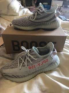 RECEIPT Almost New Adidas Blue Tint Yeezy Size 40 / womens 10