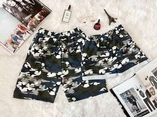 PRINTED COUOLE SHORTS