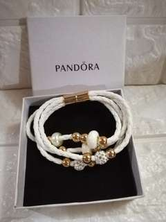 Pandora inspired leather magnetic bracelet
