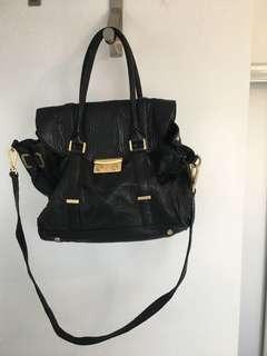 Rachel Zoe  black leather satchel bag.