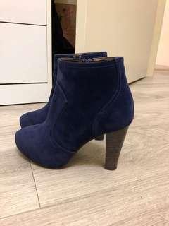 Kazana 藍色絨布短靴
