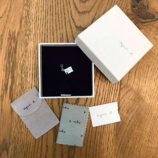 Agnes b silver 925 enveloper necklace bracelet pendant (new with box) 母親節禮物