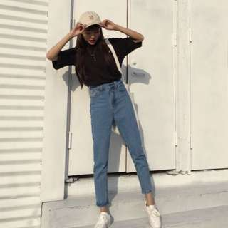 🚚 韓版直筒牛仔褲