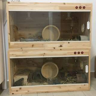 Wooden Vivarium Enclosure Cage For Reptiles/ Hamsters