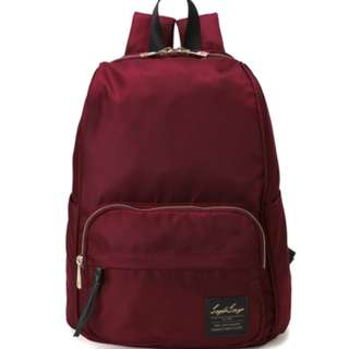 LT-C2151 [Legato Largo]  Wine Water Repellent Nylon Tone Backpack    100% GENUINE !