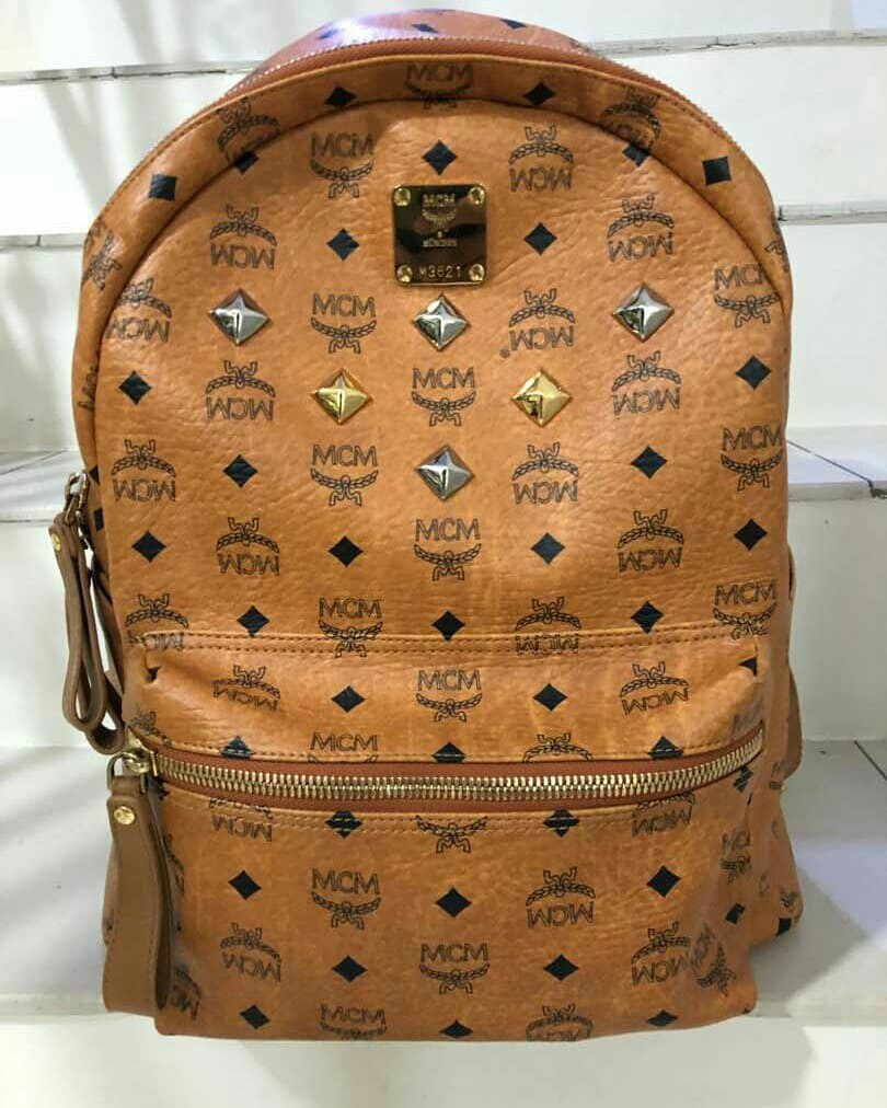 Authentic Mcm Backpack Brown Luxury Bags Wallets On