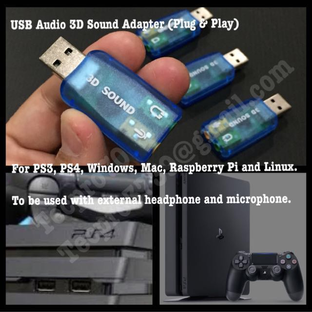 ✅ USB Audio 3D Sound Card Adapter for Gaming PlayStation