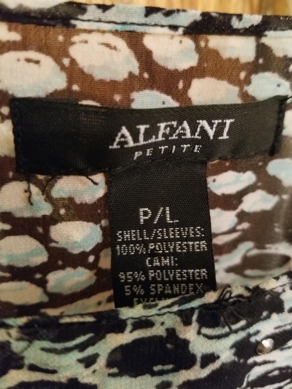 Alfani Angled Angel Sleeve Blouson Top w/Cami