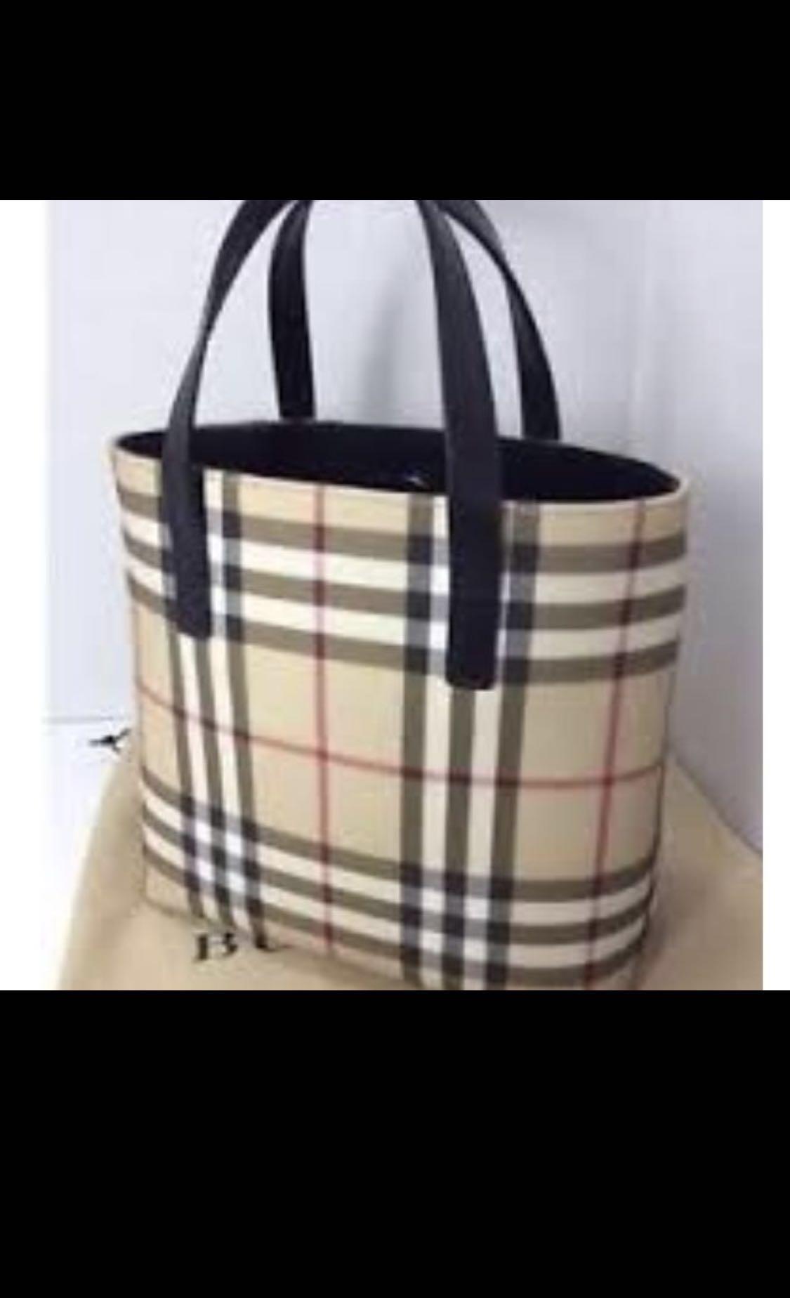 c83d5c3e46 💥Authentic 💥Burberry Bag Small Nova Check Tote, Luxury, Bags ...