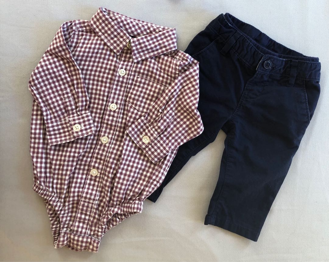 Baby Gap | Onesie Shirt & Navy Blue pants
