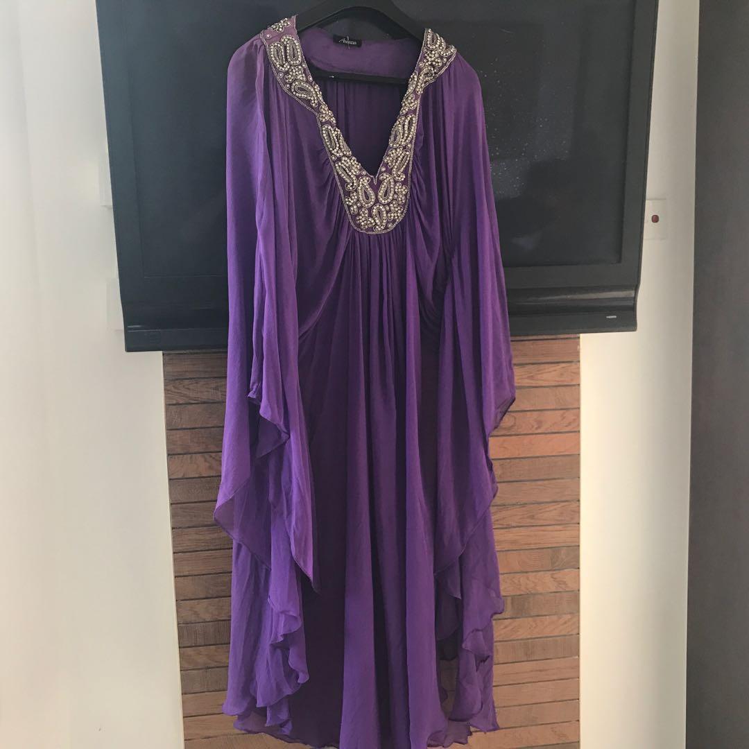 2b16535c4dff Bejewelled silk chiffon Kaftan (Aseana)