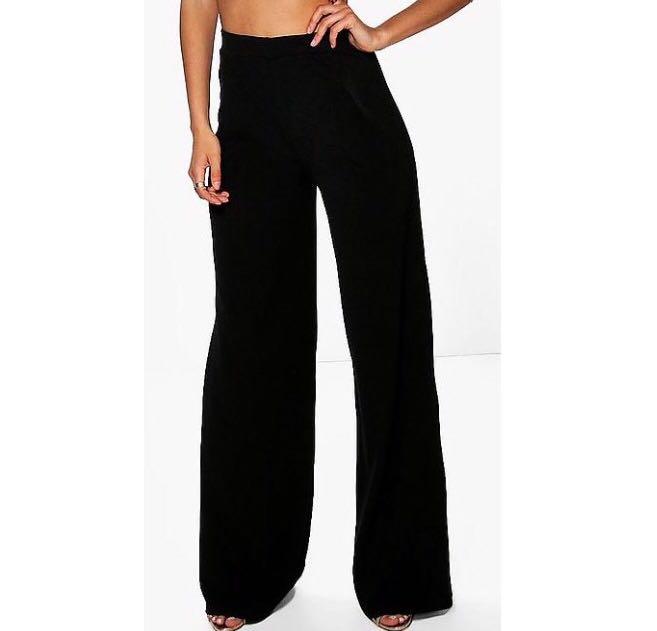Black pleat trouser