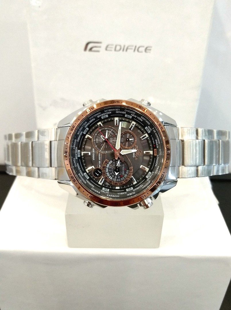 Brand New 100 Authentic Casio Edifice Rose Gold Bezel Stainless