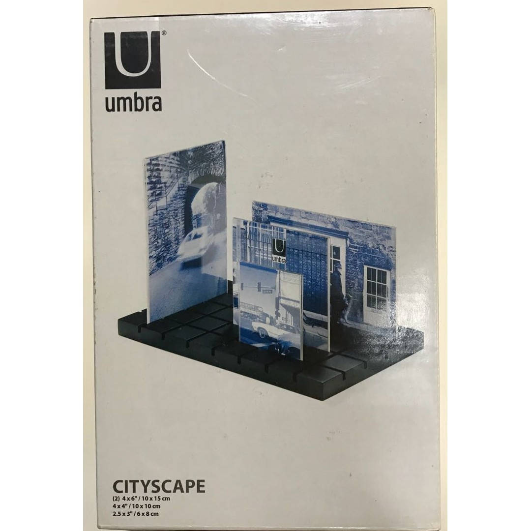 Brand new unopened] Umbra Cityscape Multi Photo Frame, Furniture ...