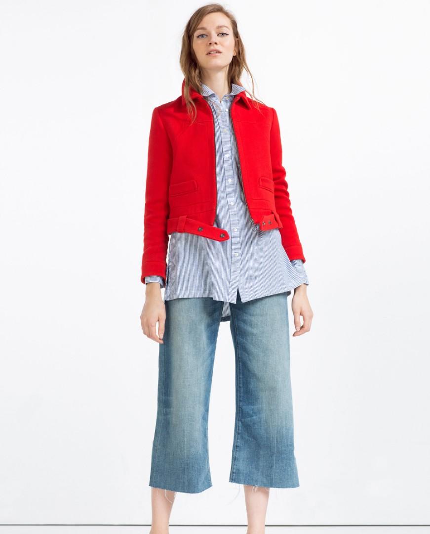 6bdedf8f04 Brand New Zara Oversized Striped Linen Shirt