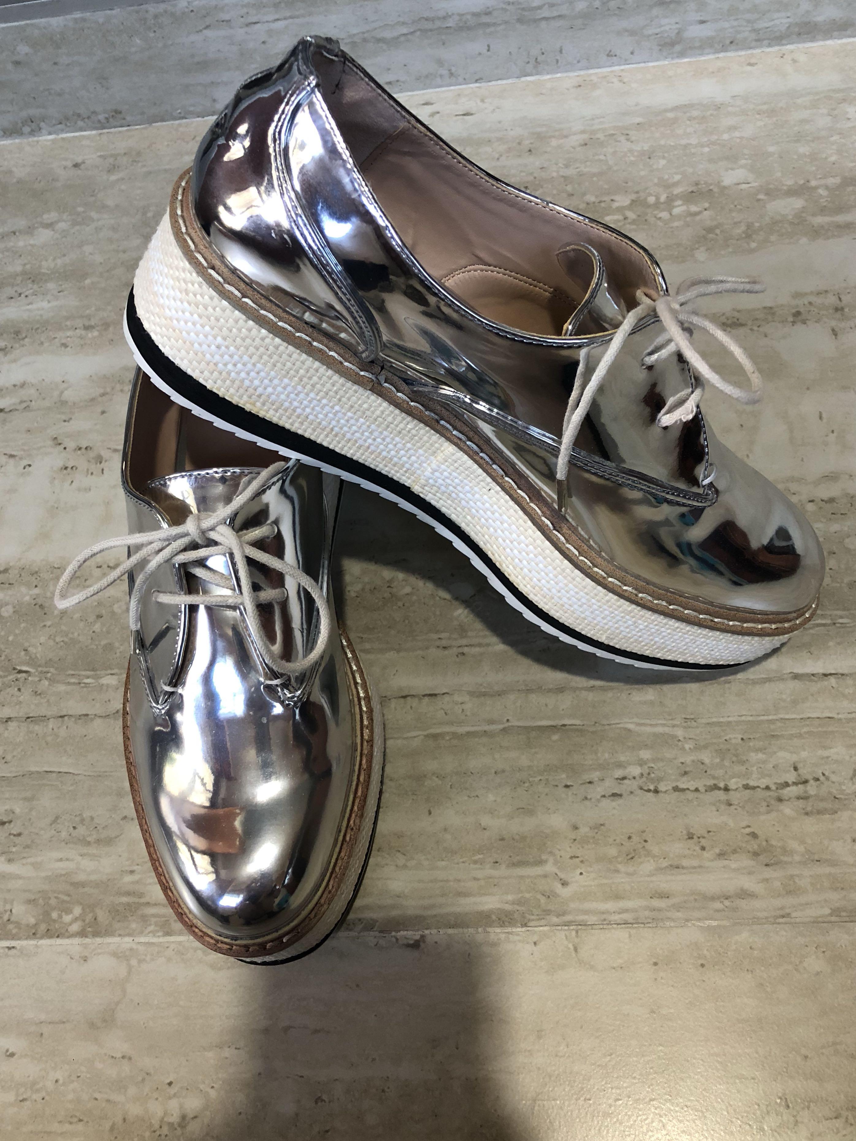 31712af4c203 Brand New Zara Silver Platform Shoes
