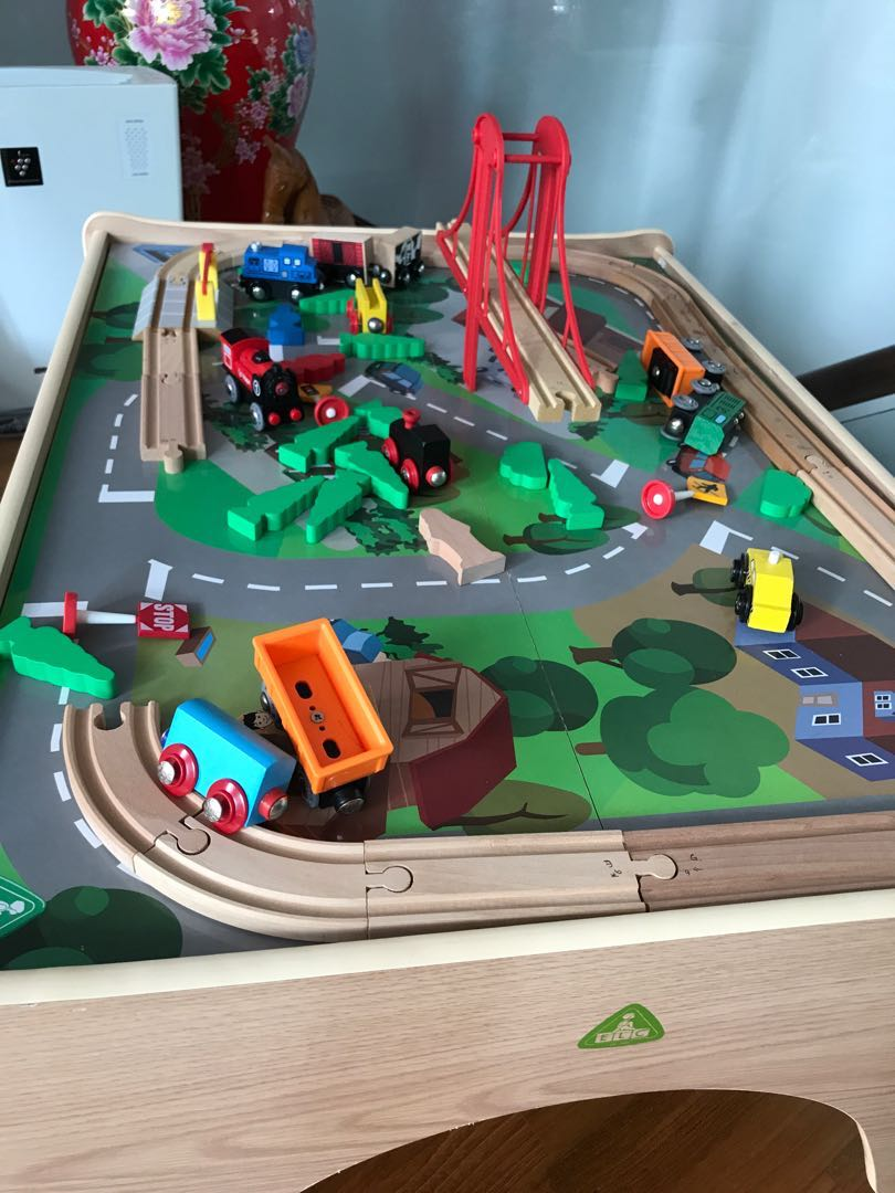 Awesome Elc Big City Small Train Table Set Universe Of Imagination Interior Design Ideas Apansoteloinfo