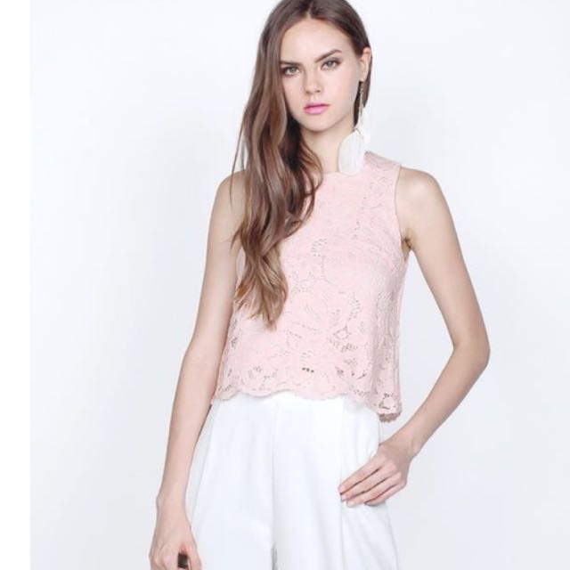 961ed2463ec FAYTH HAYLEY LACE TOP IN BLUSH PINK, Women's Fashion, Clothes, Tops ...