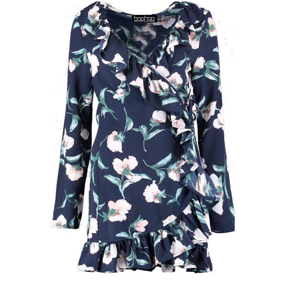 Floral frill dress