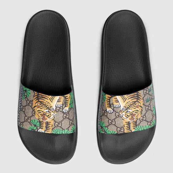 047d9deb2 Gucci tian tiger slides sandals authentic