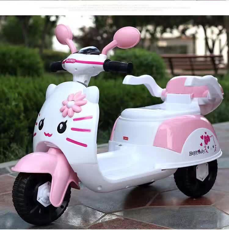 Hello Kitty Electric Car Motor: Hello Kitty Pink & White Electric Scooter Rechargeable