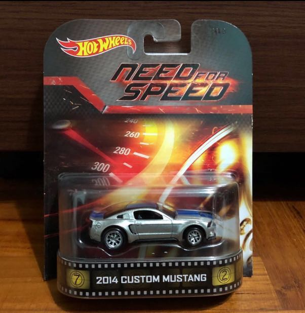 Hot Wheels Need For Speed 2014 Custom Mustang Last Pc Toys Games Bricks Figurines On Carousell
