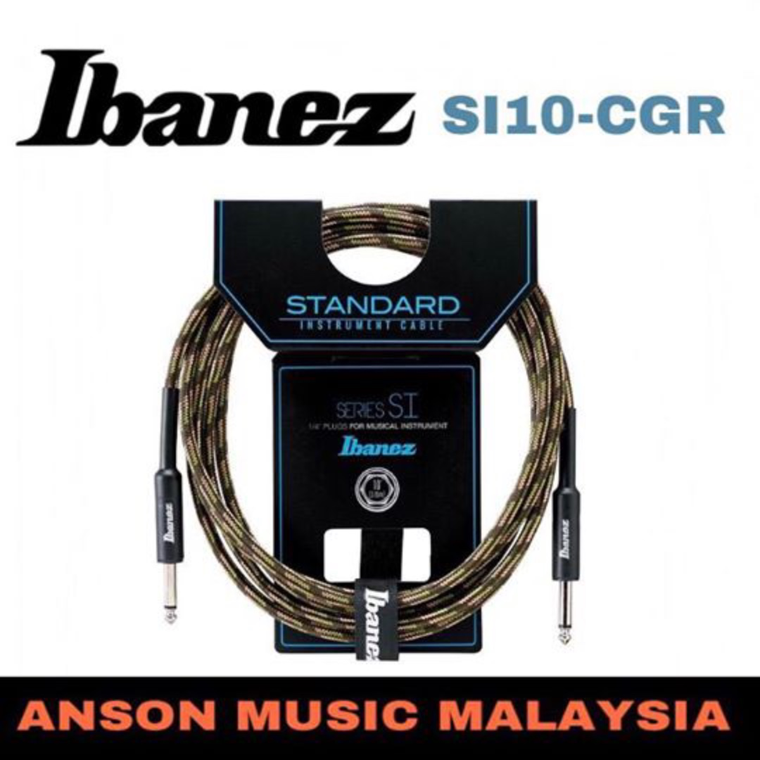 Ibanez SI10-CGR Woven Guitar Cable, 10ft
