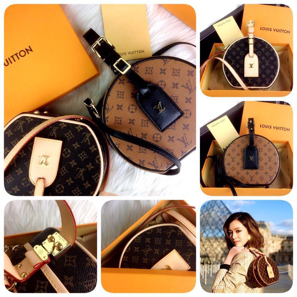 a9ae561410 LOUIS VUITTON Petite Boite Chapeau Reverse & Monogram SS18 Bag ...
