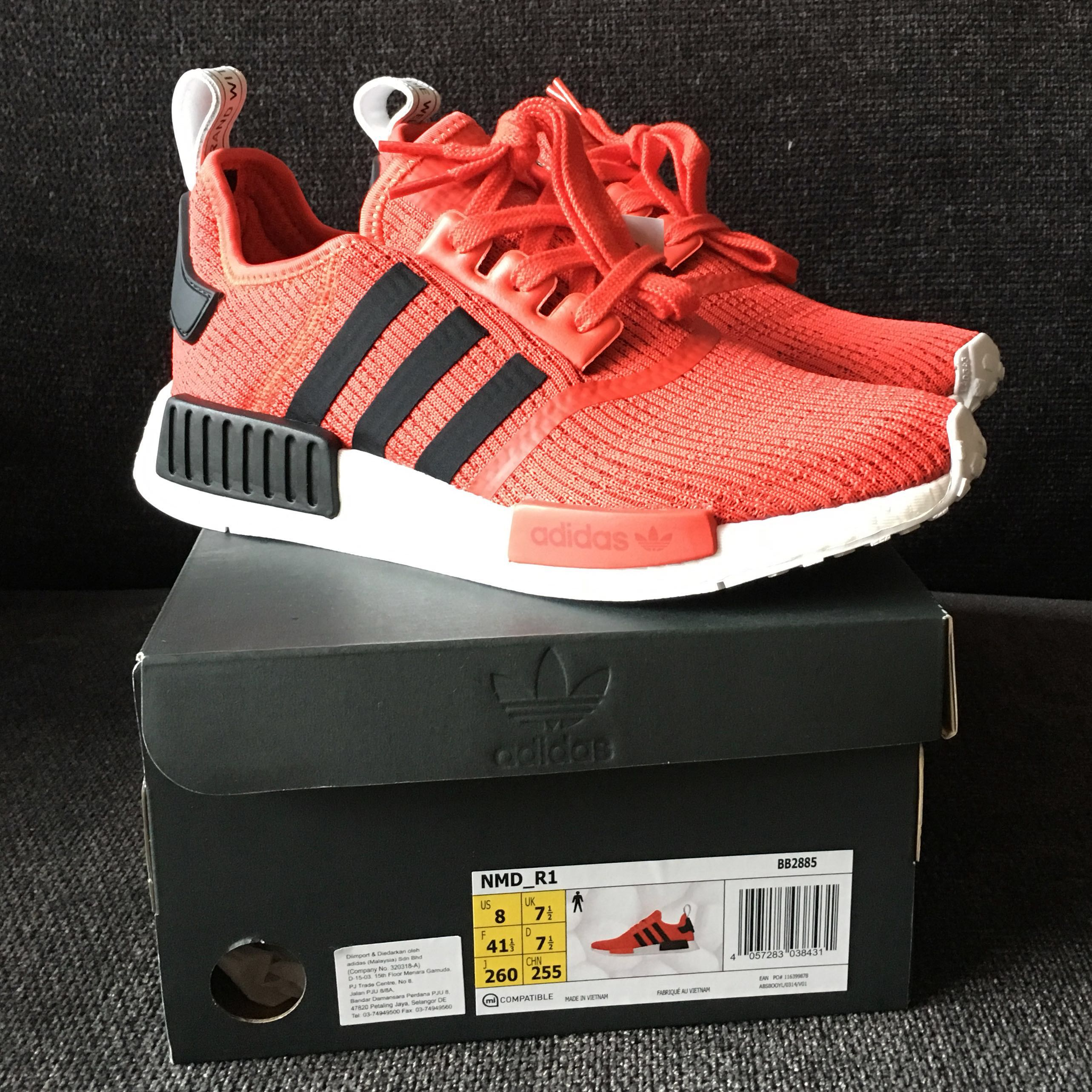aa2796bb92614 Nego Adidas NMD R1 Red Black 7.5