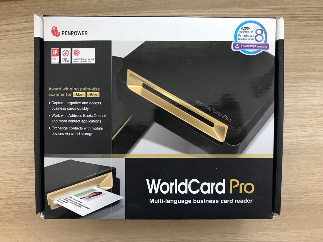 PenPower WorldCard Pro Business Card Scanner (Win/Mac), Electronics ...