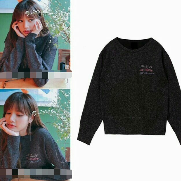 Po Blackpink Lisa Cream Red Blue Long Sleeve Top Anh Apparel