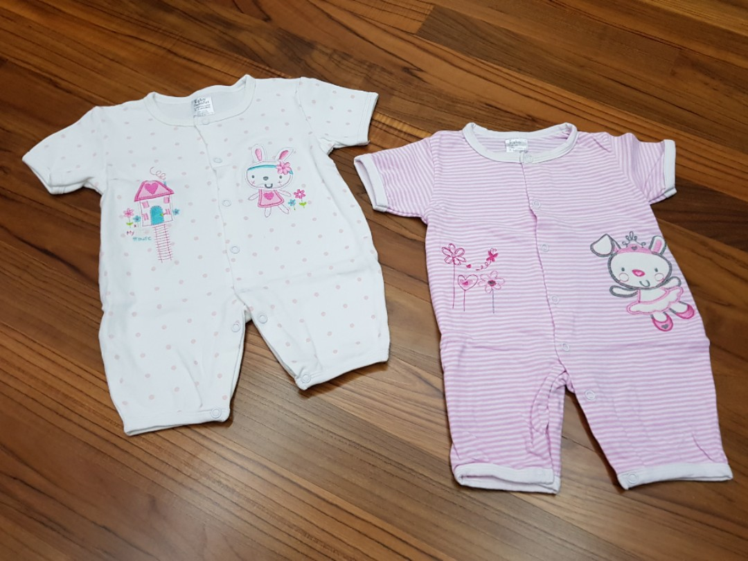 7c8b7689a47 Preloved Baby Carminas Baby Girl Rompers (2 sets) - 3 mths