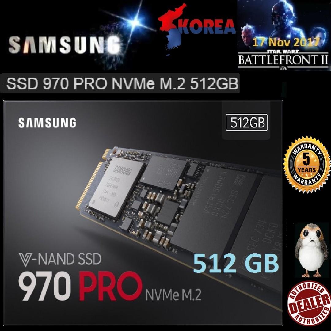 Samsung 970 PRO 512GB M 2 NVMe PCIe SSD