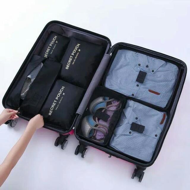 Secret pouch 7 in 1 bag in bag organizer / tas isi koper isi 7