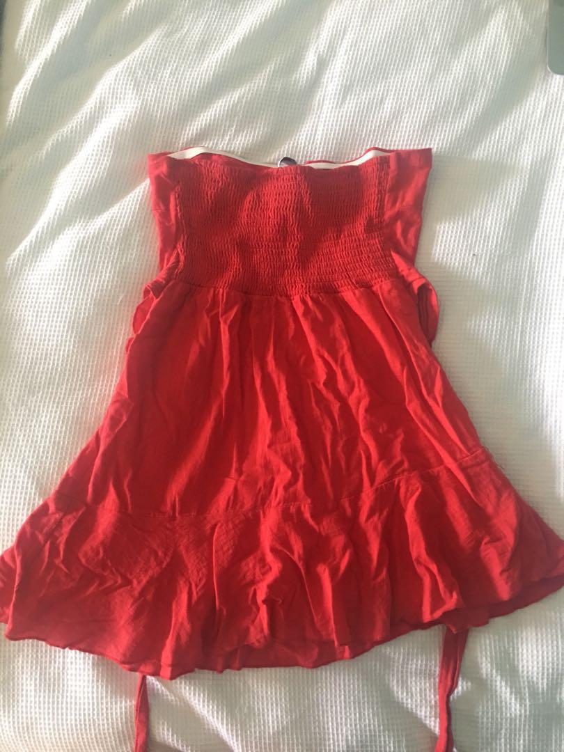 Size 10 Red Wrap Dress