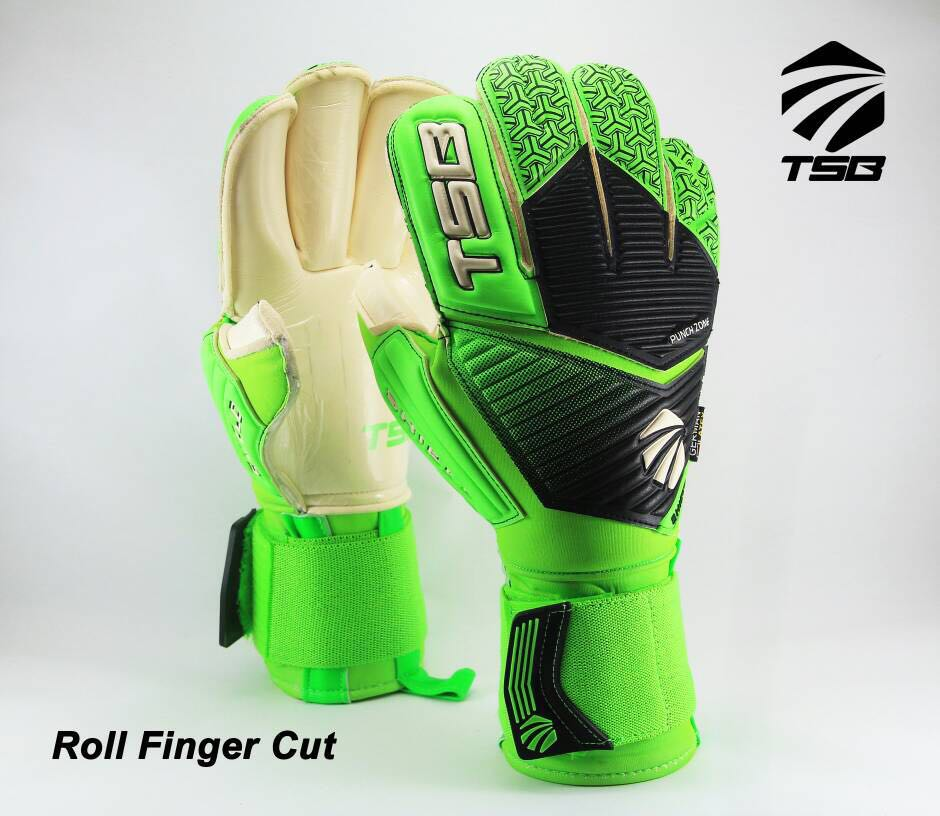 Tsb Shield Goalkeeper Gloves Roll Fingers Cut Sports Sports
