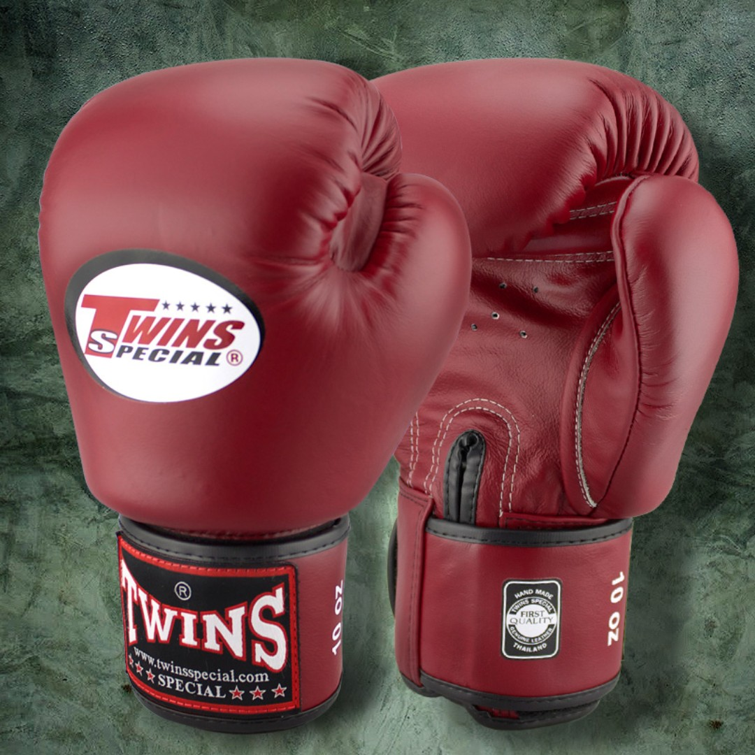 Twins Special Muay Thai Gloves - Maroon - 12 oz, Sports