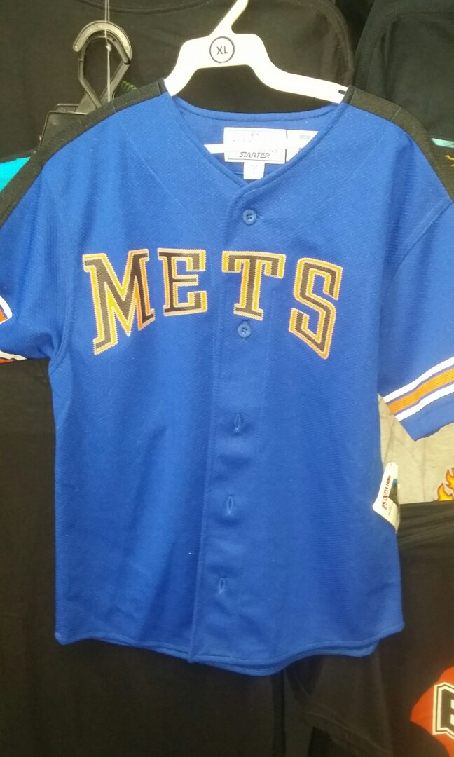 official photos f97e1 bbfe7 Vintage starters new York Mets MLB baseball jersey youth ...