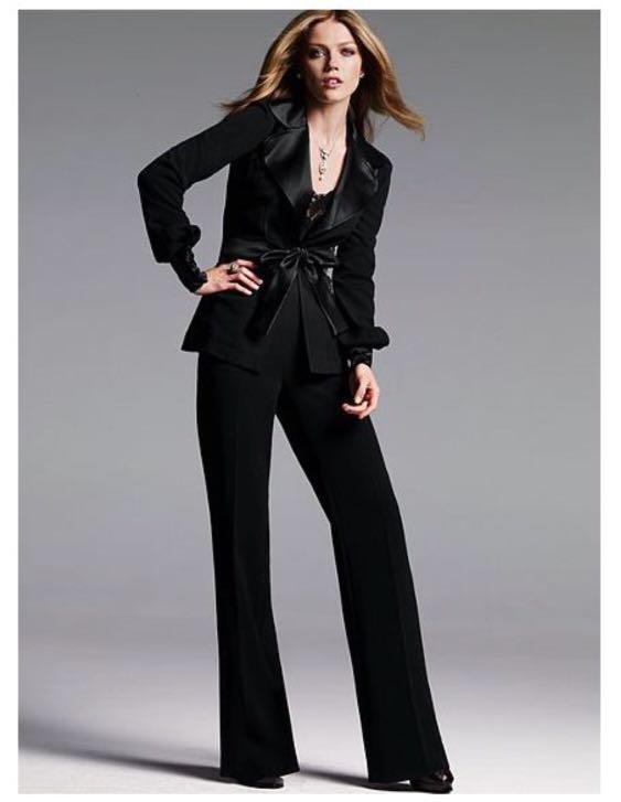 06991a7249fec VS Victoria's Secret Satin Back-Crepe High-Waist Suiting Pants