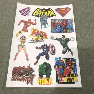 A73 Super Hero - Luggage/ notebook/ guitar / laptop stickers