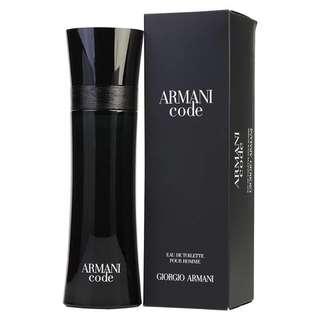 Giorgio Armani Code EDT for Men (50ml/75ml/Tester) Black