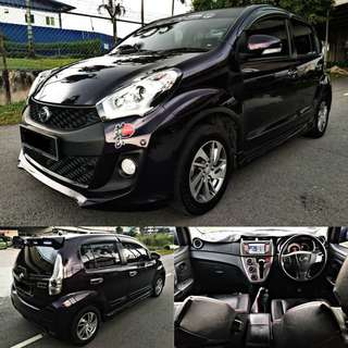 SAMBUNG BAYAR / CONTINUE LOAN  MYVI 1.5 ADVANCE AUTO PURPLE COLOUR  TAHUN 2017