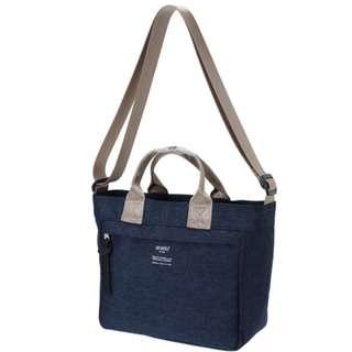 AT-C2292 [Anello] Navy Antique Shoulder Bag     100% GENUINE !